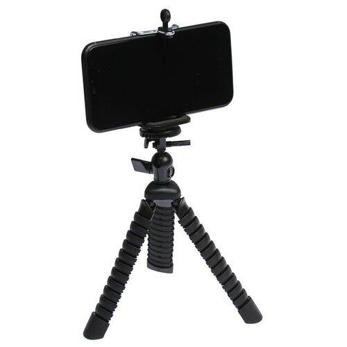 Штатив LuazON настольный для телефона гибкие ножки высота 20 см чёрный 4364246