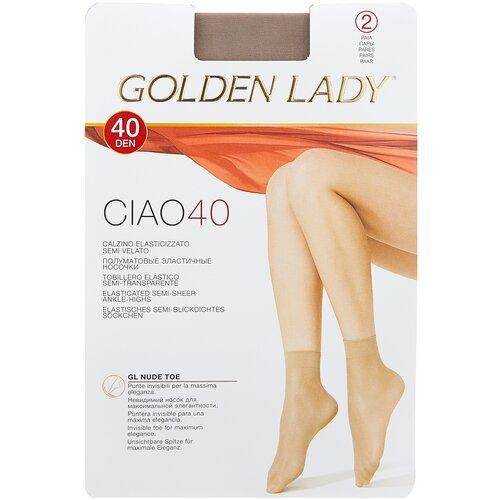 Капроновые носки Golden Lady Ciao 40 Den, 2 пары, размер 0 (one size), daino