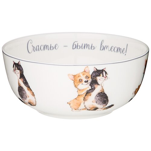 Салатник - тарелка суповая лучшие друзья 15 см Lefard (415-2180)