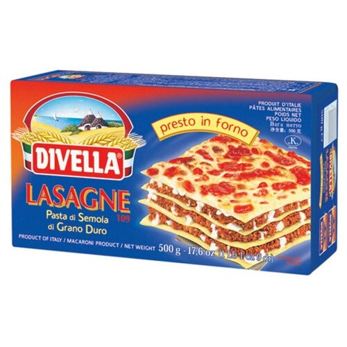 Фото - Divella Лазанья 109, 500 г макароны divella фузилли 500 г