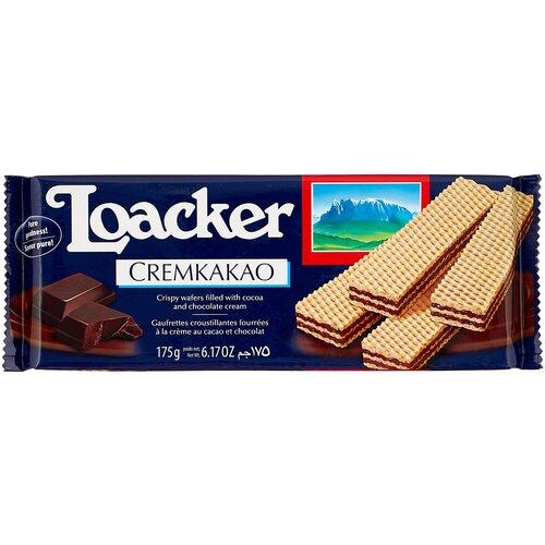 вафли loacker vanille 90 г Вафли Loacker Вафли Loacker CREMKAKAO с какао-начинкой, 175 г