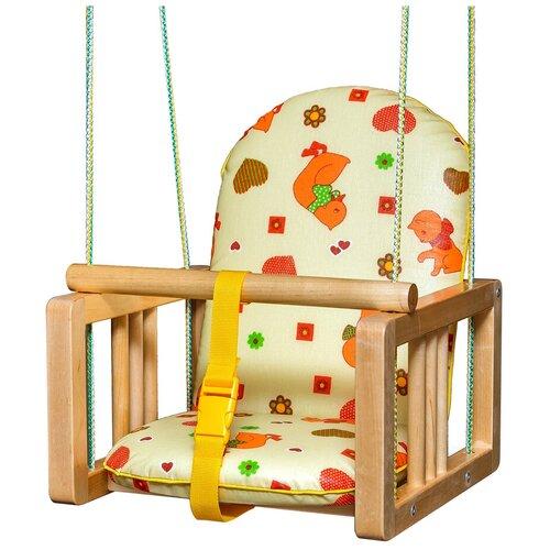 Качели подвесные с мягким сиденьем ГНОМ NEW