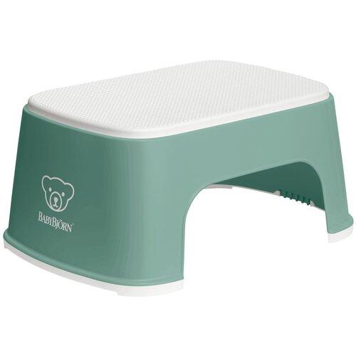 Купить Подставка для ног BabyBjorn 0612 deep green/white, Сиденья, подставки, горки