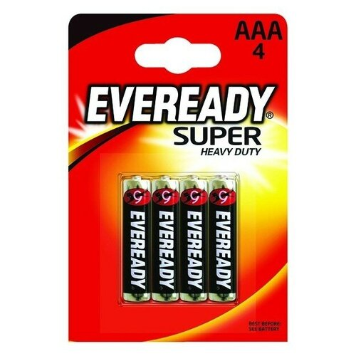 Фото - Батарейка EVEREADY Super Heavy Duty ААА/R03, 4 шт. батарейка фаza aaa r03 heavy duty 4 шт