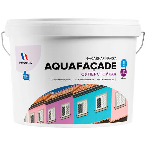 Краска акриловая Pragmatic Aquafaçade 5100BR91 влагостойкая моющаяся матовая 191 9 л