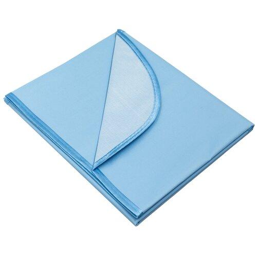 Многоразовая клеенка Чудо-Чадо подкладная с окантовкой с резинками-держателями 70х100 голубой 1 шт.