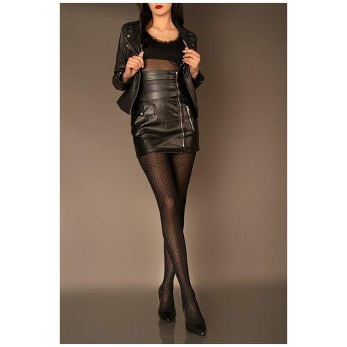 Livia Corsetti Облегающие женские колготки Meris с мелким узором, черный, 4 размер