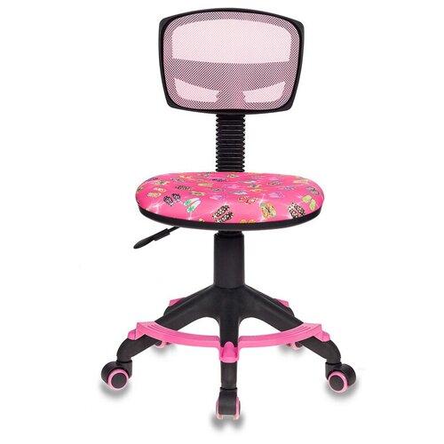 Компьютерное кресло Бюрократ CH-299-F детское, обивка: текстиль, цвет: розовый сланцы компьютерное кресло бюрократ ch w797 abstract детское обивка текстиль цвет мультиколор абстракция