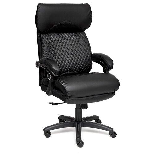 Фото - Компьютерное кресло TetChair Chief для руководителя, обивка: текстиль/искусственная кожа, цвет: черный/черный/черный компьютерное кресло tetchair багги обивка текстиль искусственная кожа цвет черный серый