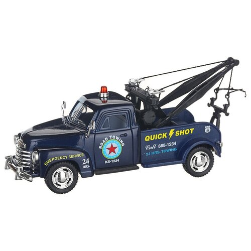 Купить Детская инерционная металлическая машинка с открывающимися дверями, модель 1953 Chevrolet 3100, синий, Serinity Toys, Машинки и техника