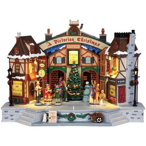 фигурка lemax отель яркий шип 20 х 20 2 х 15 7 см коричневый красный Фигурка LEMAX композиция Викторианское Рождество 36 х 26.5 х 22.5 см коричневый/серый