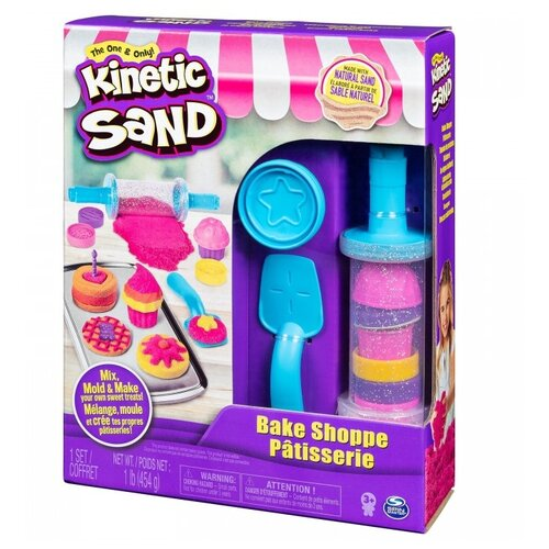 Кинетический песок Kinetic Sand Пекарня, 2 цвета (6045940), розовый/желтый, 0.45 кг, картонная пачка