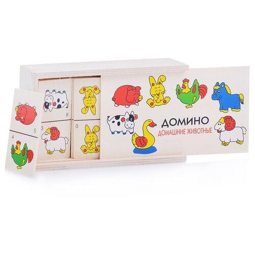 Настольная игра Щепочка Домино Домашние животные