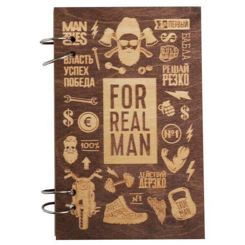 Фото - Ежедневник ArtFox For real man 4719666 недатированный, А5, 80 листов, коричневый ежедневник artfox настоящий мужик 4719664 недатированный а5 80 листов коричневый