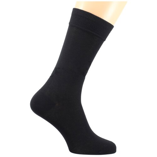 Бархатистые мужские носки LorenzLine Н4 (90% Микромодал) (25 (размер обуви 39-40), Чёрный)