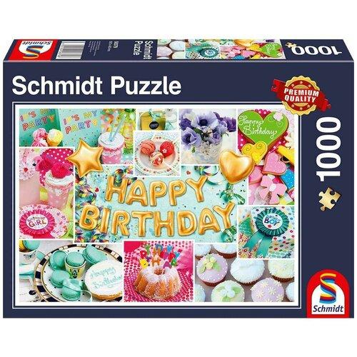 Пазл Schmidt С днем Рождения Коллаж (58379), 1000 дет. недорого