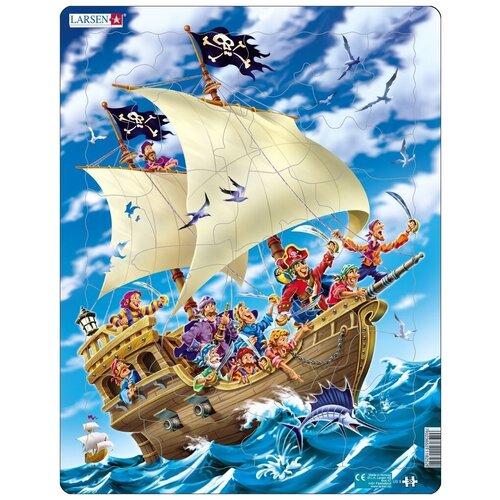 Купить Рамка-вкладыш Larsen Пираты (US9), 30 дет., Пазлы