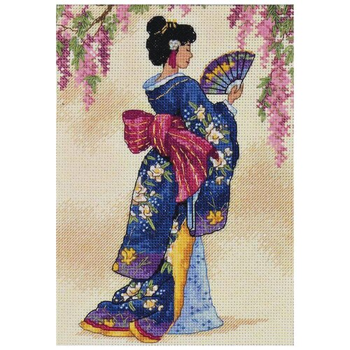 Фото - Dimensions Набор для вышивания Элегантная гейша 13 x 18 см (06953) набор для вышивания dimensions 03896 уютное укрытие46 x 23 см