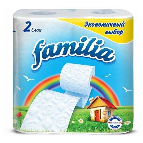 Купить Туалетная бумага Familia Радуга белая двухслойная