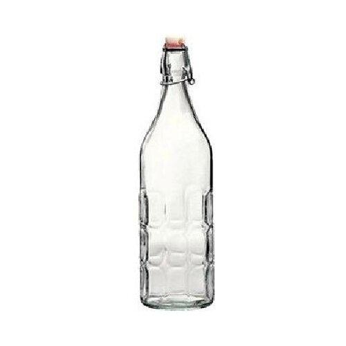 Фото - Бутылка для масла и уксуса «Мореска»; стекло,металл; 1060мл, Bormioli Rocco, арт. 3.45930 бутылка д масла уксуса 2в1 350 60мл с 2 мя пробками стекло