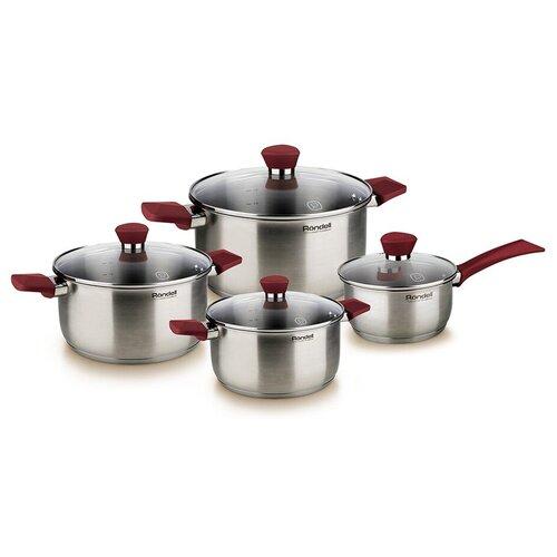 Набор посуды Rondell Strike RDS-818 8 пр. стальной набор посуды rondell rds 1003