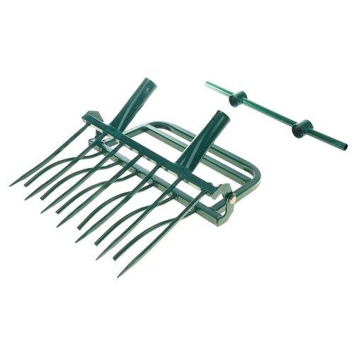 Рыхлитель садово-огородный «СУПЕР-ЗЕМЛЕКОП-7» (две ручки,7зубьев, ширина полосы 550мм) 335109