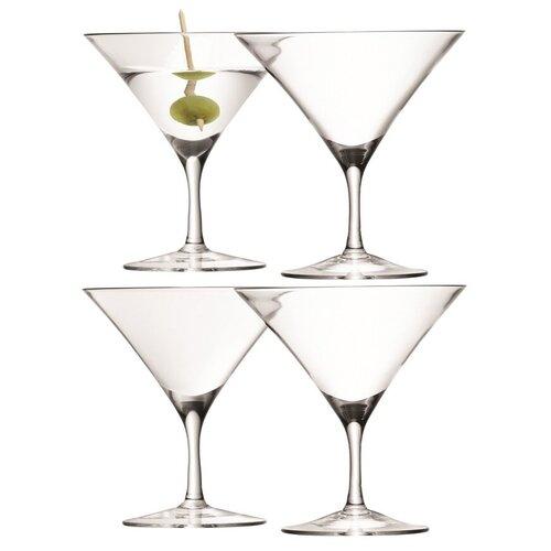 Набор из 4 бокалов LSA International для мартини Bar, 180 мл (G715-06-301)