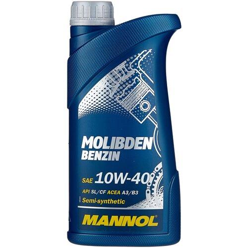 Фото - Полусинтетическое моторное масло Mannol Molibden Benzin 10W-40 1 л минеральное моторное масло mannol ts 1 shpd 15w 40 10 л