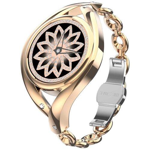 Смарт часы женские Lemfo LEM1995 с пульсоксиметром (золотистый)