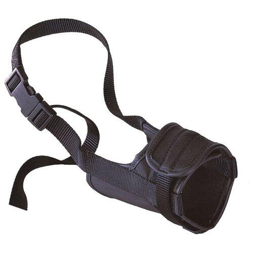 намордник для собак ferplast safe medium обхват морды 20 25 см черный Намордник для собак Ferplast Safe extra large, обхват морды 24-34 см черный