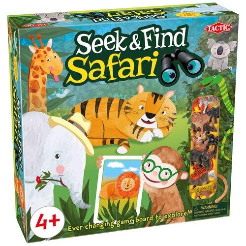 игра настольная развивающая для детей tactic коралловый риф Настольная игра TACTIC Seek & Find Safari