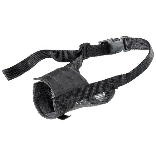 намордник для собак ferplast safe medium обхват морды 20 25 см черный Намордник для собак Ferplast Muzzle net M, обхват морды 13-24 см черный