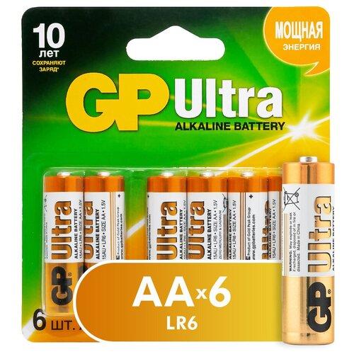 Фото - Батарейка GP Ultra Alkaline AA, 6 шт. батарейка smartbuy one eco alkaline aa 40 шт
