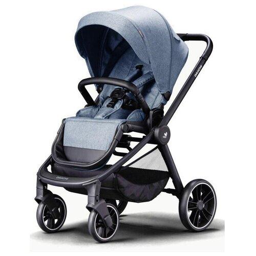 Прогулочная коляска Daiichi Allee, milky blue/black, цвет шасси: черный