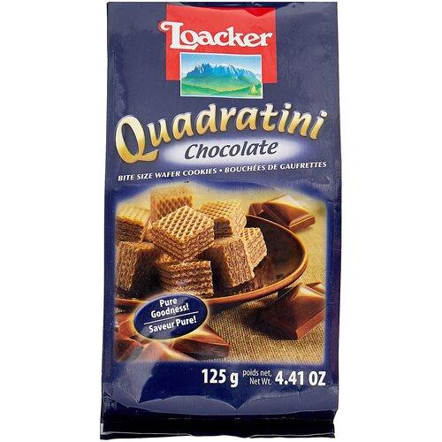 вафли loacker vanille 90 г Вафли Loacker Вафли Loacker Quadratini Chocolate, 125 г