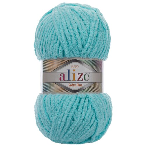 Купить Пряжа для вязания Ализе Softy Plus (100% микрополиэстер) 5х100г/120м цв.263 бирюзовый, Alize