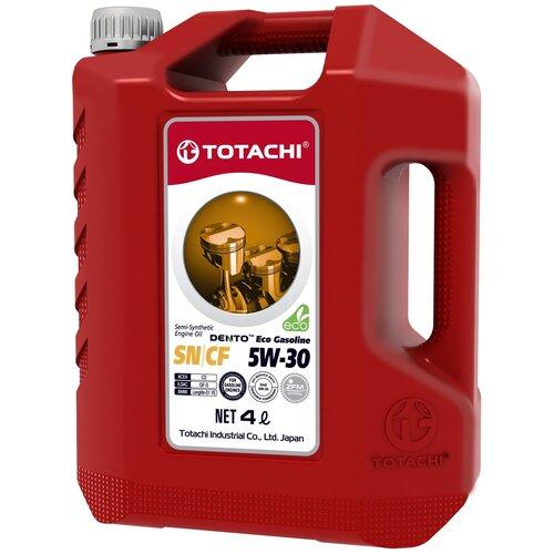 Полусинтетическое моторное масло TOTACHI DENTO Eco Gasoline Semi-Synthetic 5W-30 4 л