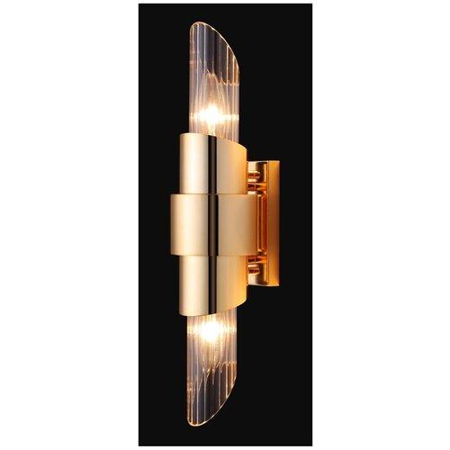 Настенный светильник Crystal Lux Justo AP2 Gold, 120 Вт
