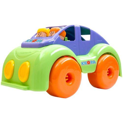 Машинка Knopa Крепыш (86240), 33 см, зеленый/фиолетовый/оранжевый