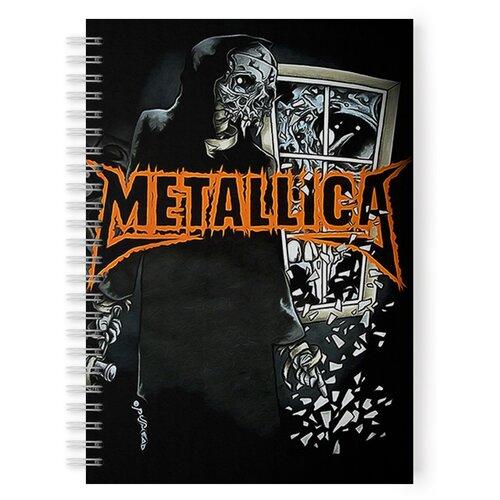 Купить Тетрадь 48 листов в клетку с рисунком Metallica Skull, Drabs, Тетради