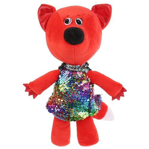 Фото - Игрушка мягкая Мульти-пульти Ми-ми-мишки, Лисичка в платье из пайеток, 20 см, без чипа (V62686-20NS) мягкая игрушка мульти пульти ми ми мишки лисичка в ободочке 20 см