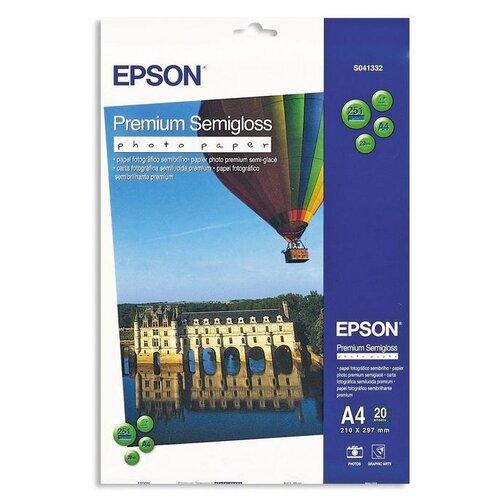 Фото - Бумага Epson A4 Premium Semigloss Photo Paper 251 г/м² 20 лист., белый бумага epson a4 premium glossy photo paper c13s041624 255г м2 50 лист белый