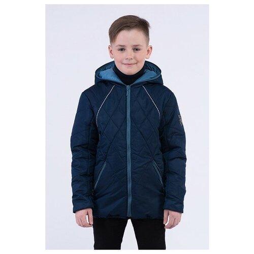 Купить Куртка для мальчика Talvi 82120, размер 140/68, цвет синий/серый, Куртки и пуховики