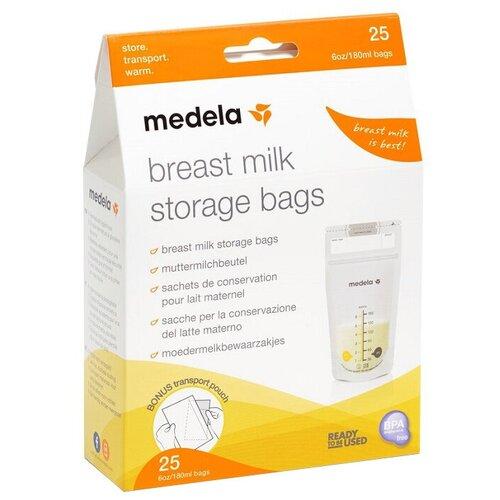 Medela Пакеты для хранения грудного молока 180 мл 25 шт. недорого