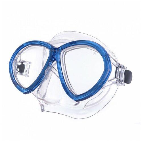 Маска для плав. Salvas Change Mask, артCA195C2TBSTH, закален.стекло, Silflex, р. Senior, синий маска для плавания salvas phoenix mask арт ca520s2bysth зак стекло силикон р senior сереб син