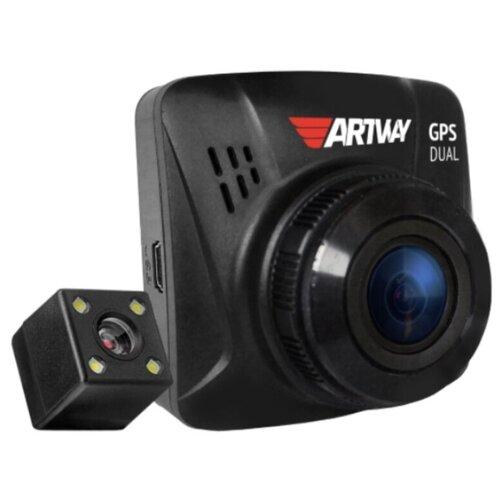Фото - Видеорегистратор Artway AV-398 GPS Dual, 2 камеры, GPS, черный видеорегистратор trendvision amirror 10 android 2 камеры gps черный