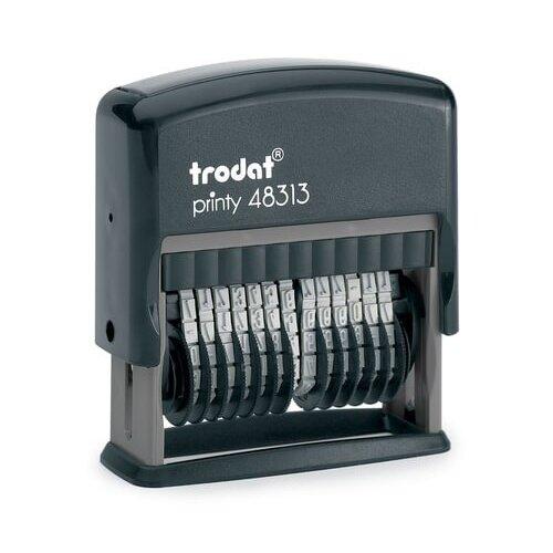 Фото - Нумератор 13-разрядный, оттиск 42х3,8 мм, синий, TRODAT 48313, корпус черный, 53198 нумератор trodat 4836 printy черный