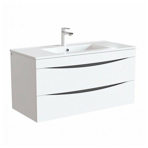 Тумба для ванной комнаты с раковиной IDDIS Cloud, ШхГхВ: 100.3х45.5х50 см, цвет: белый тумба для ванной комнаты с раковиной iddis cloud шхгхв 100 3х45 5х50 см цвет белый