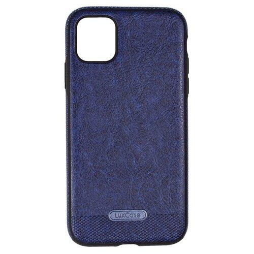 Защитный чехол для iPhone 11 / на Айфон 11 / бампер / экокожа / накладка на телефон / Синий
