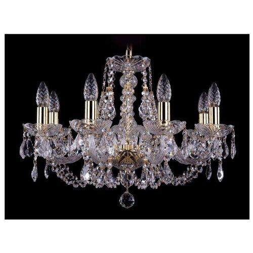 Люстра Bohemia Ivele Crystal 1406 1406/8/195/G/Leafs, E14, 320 Вт люстра bohemia ivele crystal 1406 1406 8 160 ni leafs e14 320 вт